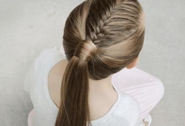 French Fishtail Ponytai Tutorial Hairstyle