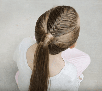 French Fishtail Ponytai Tutorial Hairstyle