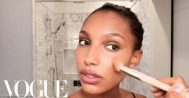 Victoria's Secret Angel Jasmine vogue inspired makeup