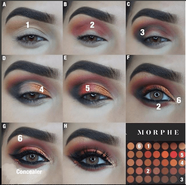 5 Step To Create Rose Glam Eyeshadow Look