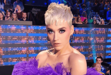 Katy Perry's American Idol Finale Purple Hair And Eyeshadow Makeup Look