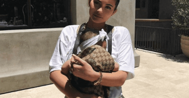 Summer Makeup Look By Kylie Jenner And Her Baby Stormi In A 900$ Gucci Baby Carrier