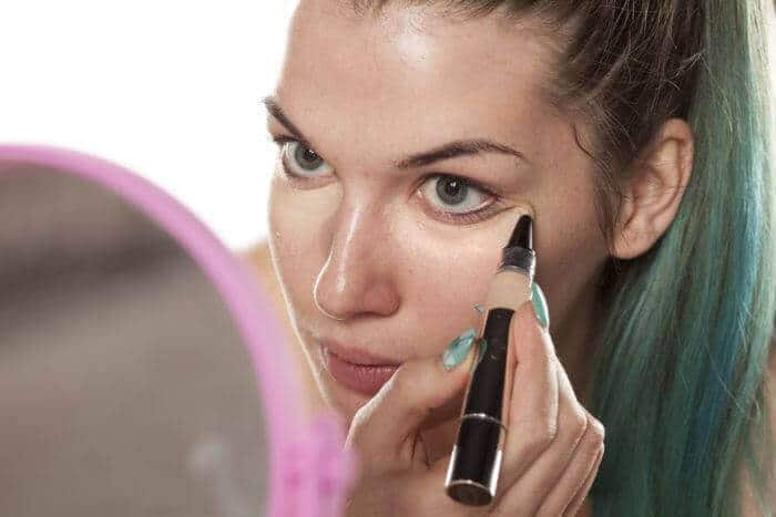 Applying layers of concealer first